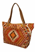 Monogram Aztec Tote Bag