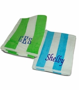 Monogram Cabana Stripe Beach Towel