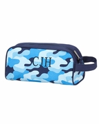 Monogram Camo Accessory Bag - 2 colors Brown or Blue