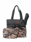 Monogram Camo Quilted Diaper Bag | Personalized