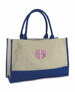 Monogram Canvas Color Block Tote  | Personalized