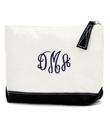 Monogram Canvas Cosmetic Bag - Black, Mint, Pink