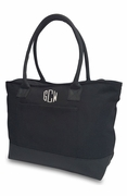 Monogram Canvas Shoulder Tote Bag