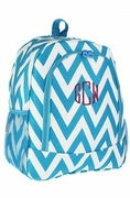 Monogram Chevron School Backpack | Personalized