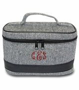 Monogram Cosmetic Train Case | Herringbone