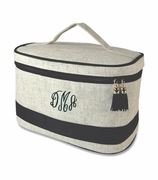 Monogram Cosmetic Travel Bag - Navy blue