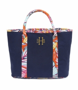 Monogram Cotton Canvas Traveler Tote