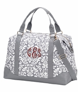 Monogram Damask Travel Tote