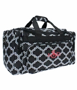 Monogram Duffle Bag | Quatrefoil Pattern
