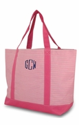 Monogram Embroidered Tote Bag