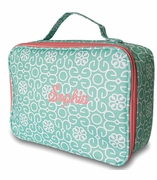 Monogram Geometric Damask Lunch Tote Bag