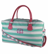 Monogram Girls Striped Duffle Bag