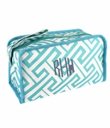 Monogram Greek Key Accessory Pouch