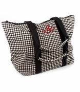 Monogram Houndstooth Tote Bag
