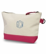 Monogram Make-up Bag Canvas | Color Block