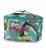 Monogram Owl Cosmetic Bag