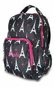 Monogram Paris Pattern Backpack