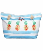 Monogram Pineapple Beach Tote Bag