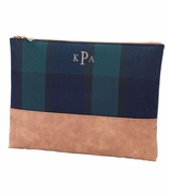 Monogram Plaid Accessory Bag | Personalized