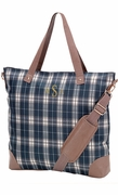 Monogram Plaid Check Tote Bag | Personalized