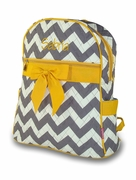 Monogram Quilted Chevron Backpack | Personalized