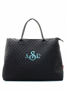 Monogram Quilted Travel Tote Bag