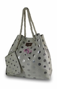 Monogram Shimmer Tote Bag - Polka Dot
