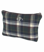 Monogram Tartan Plaid Accessory Pouch