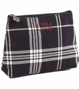 Monogram Tartan Plaid Make-up Bag