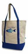 Monogrammed Boat Tote - Gone Fishing