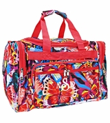 Monogrammed Butterfly Duffle Bag