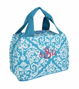 Monogrammed Damask Lunch Tote Bag | Personalized