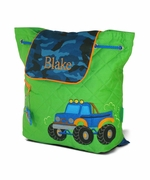 Monogrammed Kids Backpack | Truck