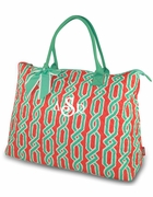 Monogrammed Quilted Tote Bag