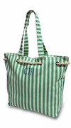 Monogrammed Striped Beach Bag - Personalized | Mint or Navy