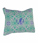 Mosaic Print Accessory Pouch | Monogram