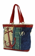 Nautical Anchor Canvas Boat Tote | Monogrammed