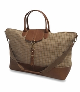 Oversized Herringbone Weekend Duffle