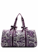Paisley Weekend Tote Bag | Monogram | Personalized