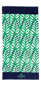 Palm Pattern Beach Towel Monogram