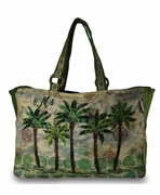 Palm Tree Pattern Summer Duffle | Personalized