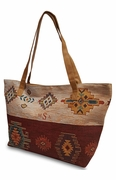 Personalized Aztec Shoulder Tote Bag