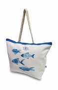 Personalized Beach Totes |  Fish Pattern