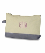 Personalized Canvas Make Up Bag - 4 Colors