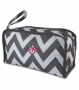 Personalized Chevron Pattern Makeup Bags