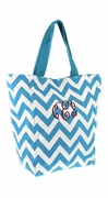 Personalized Chevron Tote Bag