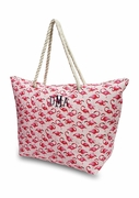 Personalized Flamingo Beach Tote Bags