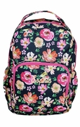 Personalized Floral Backpack | Embroidered