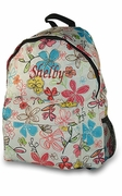 Personalized Floral Backpack Purse