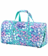 Personalized Floral Duffel Bag